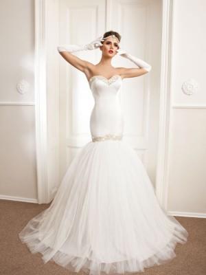 Vjenčanica Aurora, sirena s korzetom, Royal Bride kolekcija 2015, vjencanice.com.hr