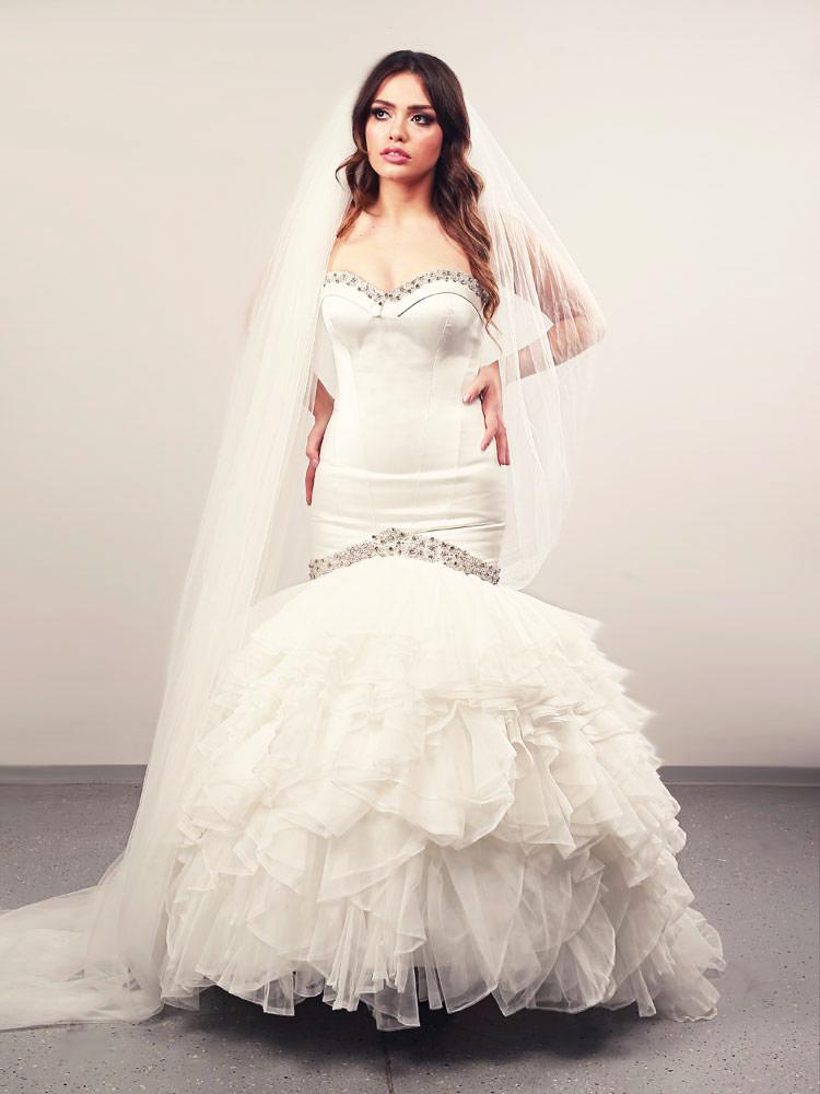 Vjenčanica Aurora volani 1, sirena s korzetom, Royal Bride kolekcija 2015, vjencanice.com.hr