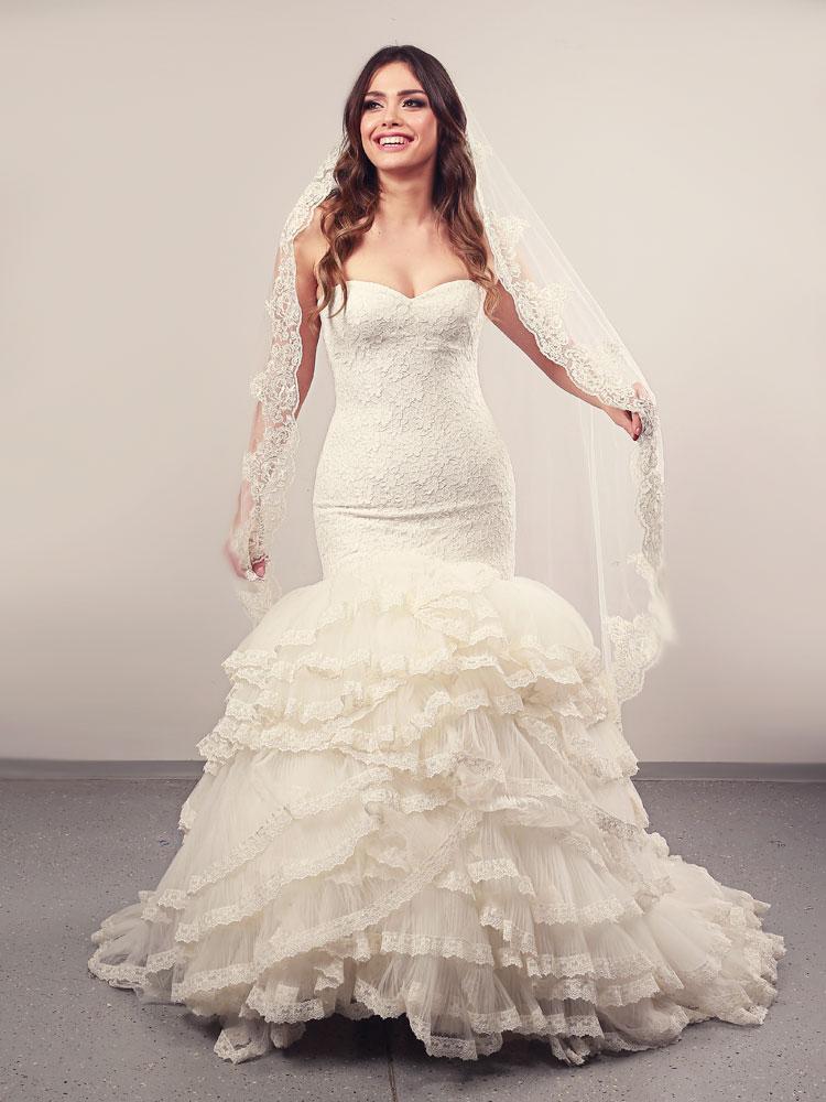 Vjenčanica Ivy Volani, Sirena s korzetom, Royal Bride kolekcija 2014, vjencanice.com.hr